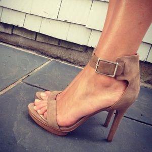 Calvin Klein Vivian Suede Platform Heels